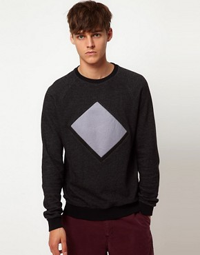 Image 1 ofASOS Sweatshirt With Cut And Sew Detail