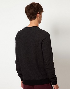 Image 2 ofASOS Sweatshirt With Cut And Sew Detail