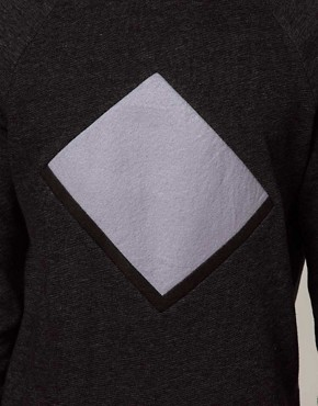 Image 3 ofASOS Sweatshirt With Cut And Sew Detail
