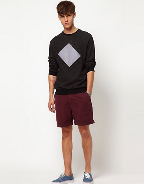 Image 4 ofASOS Sweatshirt With Cut And Sew Detail