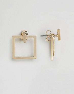 Whistles Square Through & Through Earrings