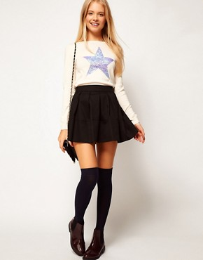 Image 1 ofASOS Skater Skirt in Cotton