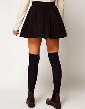 Image 2 ofASOS Skater Skirt in Cotton