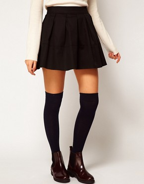 Image 4 ofASOS Skater Skirt in Cotton