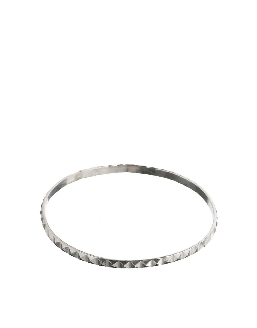 Daisy Knights Studded Hand Bangle - Silver