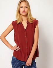 Mih Jeans Sleeveless Silk Shirt