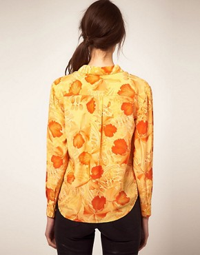 Image 2 ofEquipment Tropical Print Tie Front Shirt