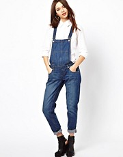 River Island Boyfriend Denim Dungaree