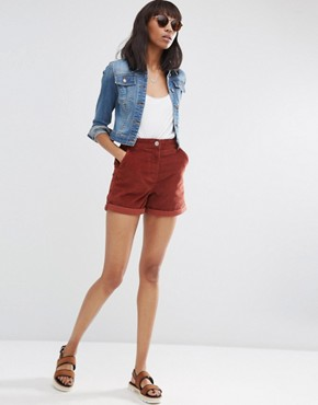 ASOS Cord Tailored Short in Rust