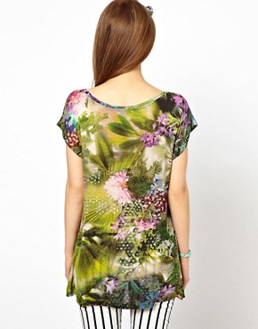Image 2 ofPaul by Paul Smith Jersey Tee in Hazy Botanical Print