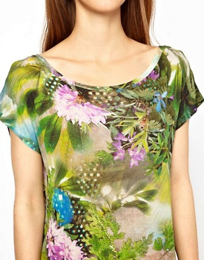 Image 3 ofPaul by Paul Smith Jersey Tee in Hazy Botanical Print