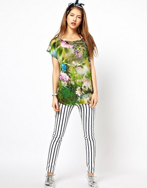 Image 4 ofPaul by Paul Smith Jersey Tee in Hazy Botanical Print