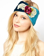Her Curious Nature Rose Velvet Wide Head Band