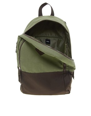 Image 2 of ASOS Backpack with Contrast Panels