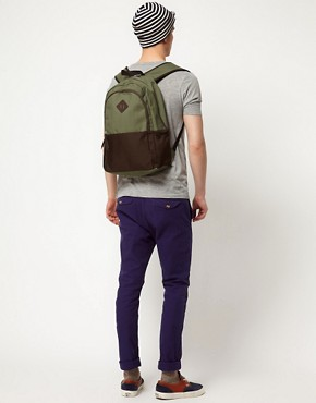 Image 3 of ASOS Backpack with Contrast Panels