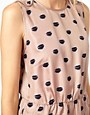 Image 3 of Baum und Pferdgarten Sporty Silk Dress in Lips Print