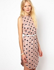 Baum und Pferdgarten Sporty Silk Dress in Lips Print
