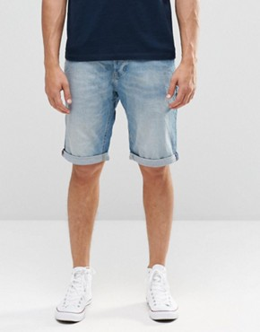 Lee Straight Denim Shorts Beach Blue