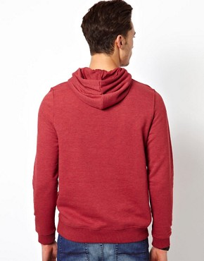 Bild 2 von ASOS  Kapuzen-Sweatshirt aus berfrbtem, meliertem Jersey