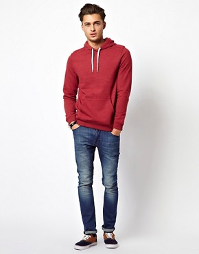 Bild 4 von ASOS  Kapuzen-Sweatshirt aus berfrbtem, meliertem Jersey