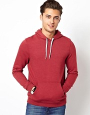 ASOS Hoodie In Overdyed Jersey Marl