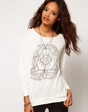 Image 1 ofASOS Top with Henna Print Eye