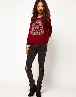 Image 4 ofASOS Top with Henna Print Eye