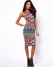 ASOS Bodycon Dress In Scarf Print