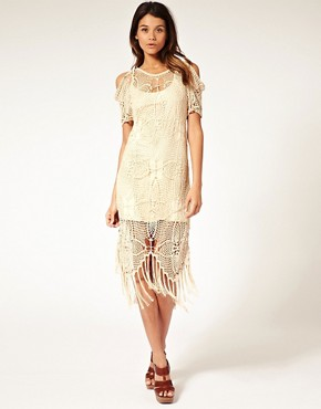 Image 1 ofASOS Premium Hand Crochet Dress