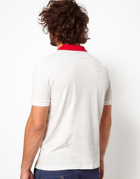 Image 2 ofASOS Polo Shirt With Speckled Fabric