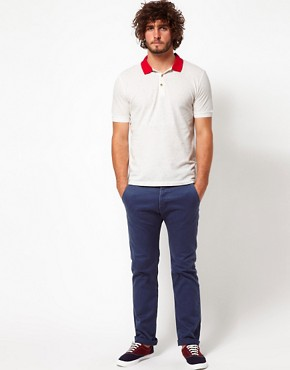 Image 4 ofASOS Polo Shirt With Speckled Fabric