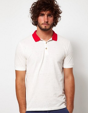 Image 1 ofASOS Polo Shirt With Speckled Fabric