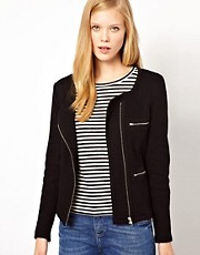 Whistles Solid Jersey Biker Jacket