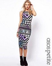 ASOS PETITE Body-Conscious Dress In Aztec Print
