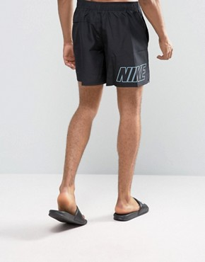 Nike Swim Shorts With Back Logo Print In Black