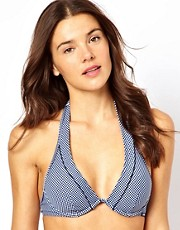 Esprit B-D Cup Underwired Gingham Bikini Top