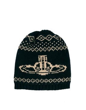 Image 1 ofVivienne Westwood Fairisle Orb Beanie