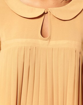 Image 3 ofTFNC Peter Pan Collar Chiffon Pleat Dress