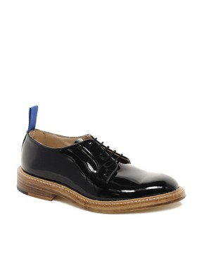 Image 1 ofTrickers Exclusive to ASOS Robert Patent Derby Shoes