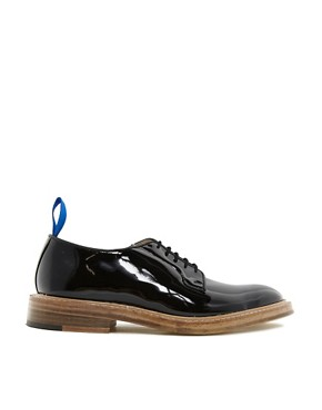 Image 4 ofTrickers Exclusive to ASOS Robert Patent Derby Shoes