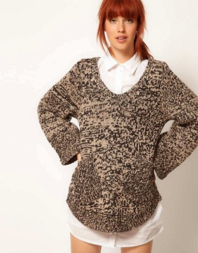 Image 1 ofBaum Und Pferdgarten Oversized Jumper with Pocket Detail