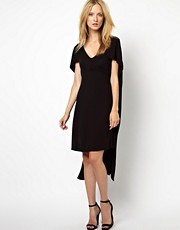 Kore by Sophia Kokosalaki Cape Crepe Dress