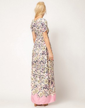 Image 2 ofASOS Maxi Tea Dress In Floral Print