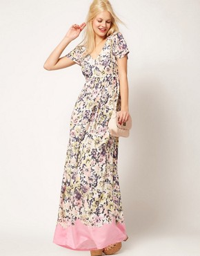 Image 4 ofASOS Maxi Tea Dress In Floral Print