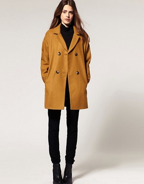 Image 4 ofASOS Double Breasted Car Coat