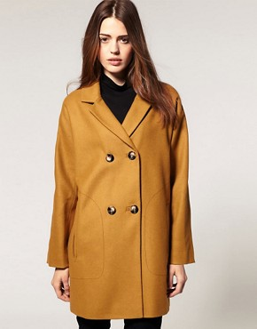 Image 1 ofASOS Double Breasted Car Coat