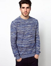 Farah Vintage Sweater with Space Dye Pattern