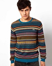 Lacoste Live Jumper with Tribal Pattern