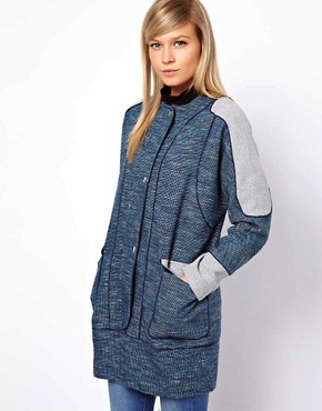Image 1 ofASOS Blocked Textured Coat