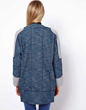 Image 2 ofASOS Blocked Textured Coat